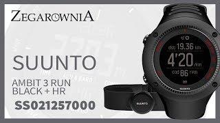 Zegarek Suunto Ambit 3 Run Black + HR SS021257000   Zegarownia.pl