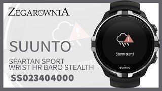 Zegarek Suunto Spartan Sport Wrist HR Baro Stealth SS023404000  SS023404000 | Zegarownia.pl