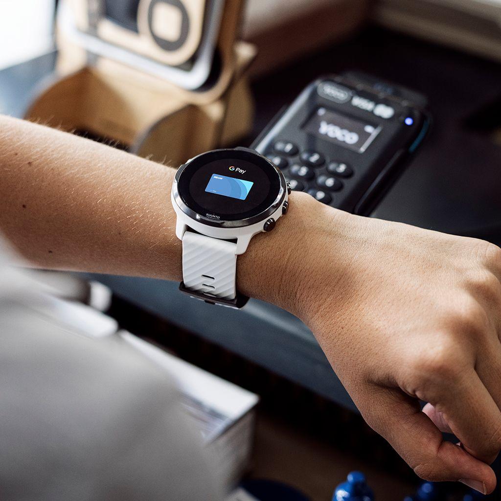 Zegarek smartwatch Suunto 7 White Burgundy Wrist HR GPS