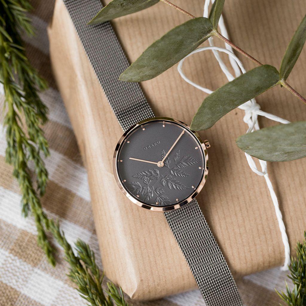 Zegarek damski Obaku Hassel Natur Granite