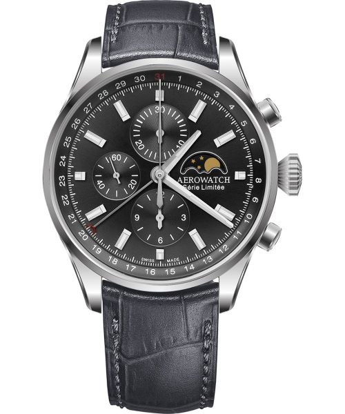 Zegarek męski Aerowatch Les Grandes Classiques Automatic Valjoux Chronograph Limited Edition 69989-AA02
