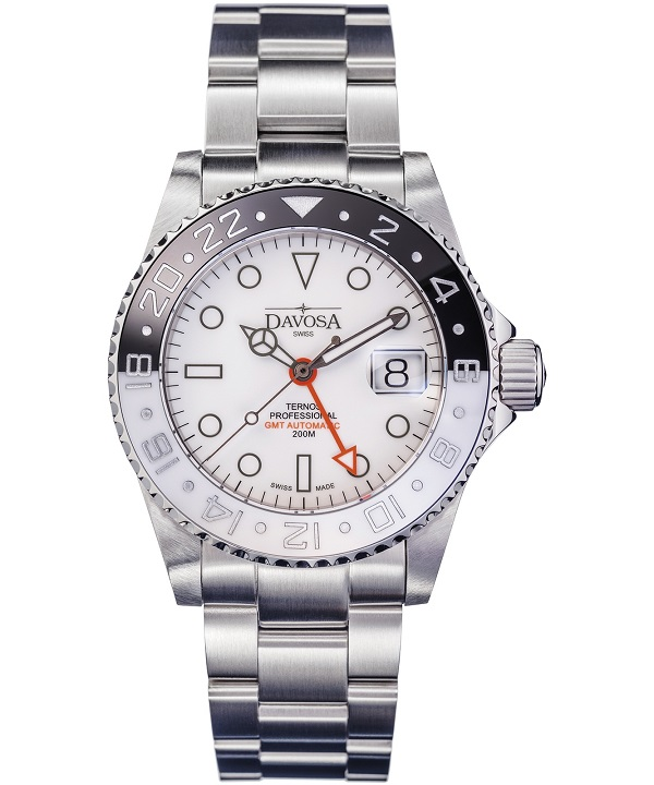 Zegarek męski Davosa Ternos Professional Black&White GMT Automatic Limited Edition