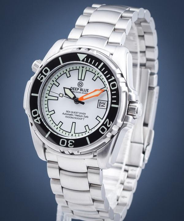 Zegarek męski Deep Blue Sea Quest Diver 1500 Automatic SEAQ42WHBRC