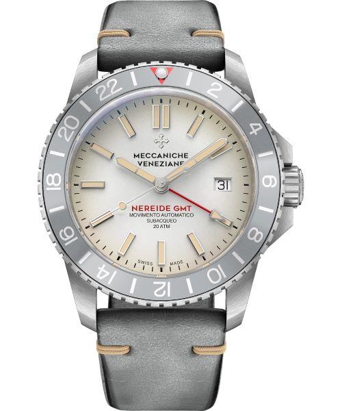 Zegarek męski Meccaniche Veneziane Nereide GMT Ardesia PVD Automatic