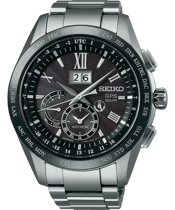 Zegarek męski Seiko Astron GPS Solar Titanium Perpetual Calendar SSE137J1