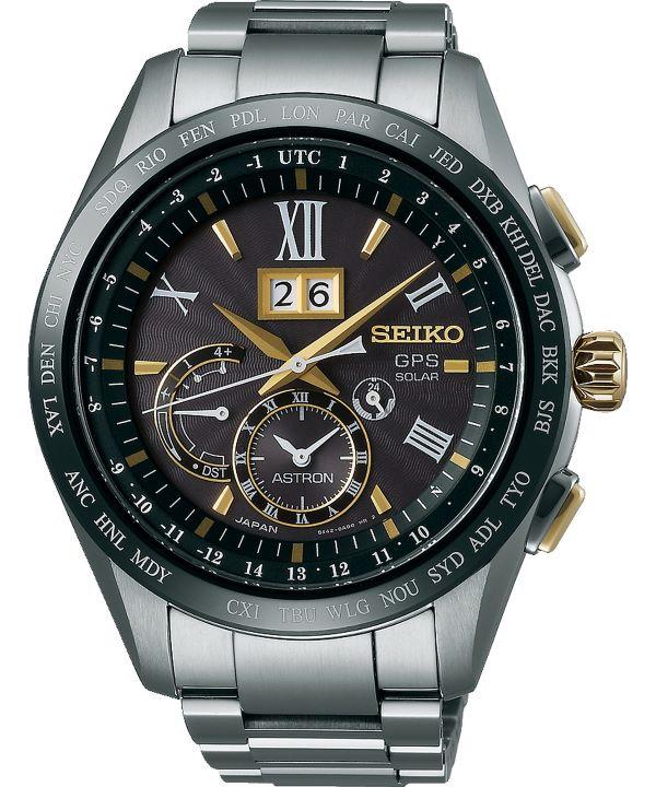 Zegarek męski Seiko Astron GPS Solar Titanium Perpetual Calendar SSE139J1