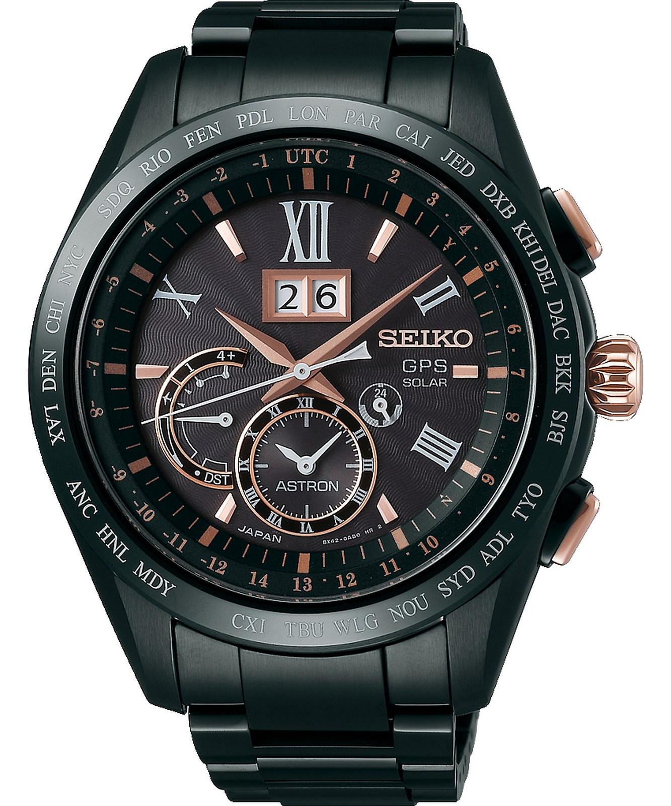 Zegarek męski Seiko Astron GPS Solar Titanium Perpetual Calendar SSE141J1