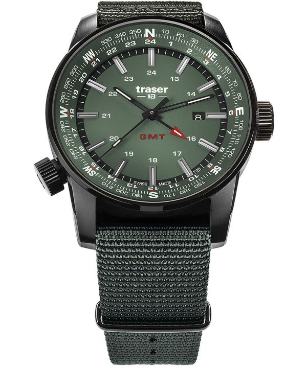 Zegarek męski Traser P68 Pathfinder GMT Green