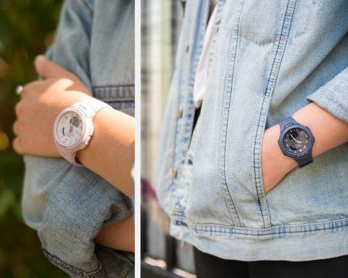 Damskie zegarki hybrydowe Casio BABY-G G-Qquad