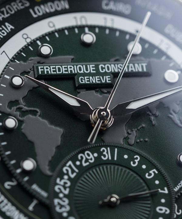 Zegarek męski z zieloną tarczą Frederique Constant lifestyle