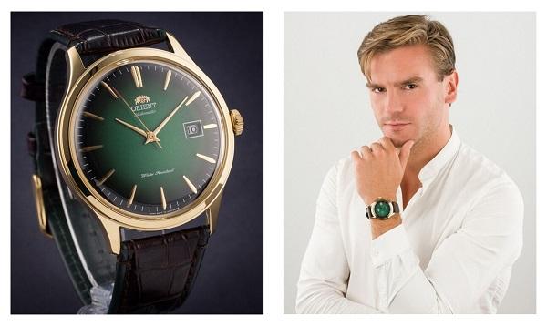 Zegarek męski z zieloną tarczą Orient lifestyle