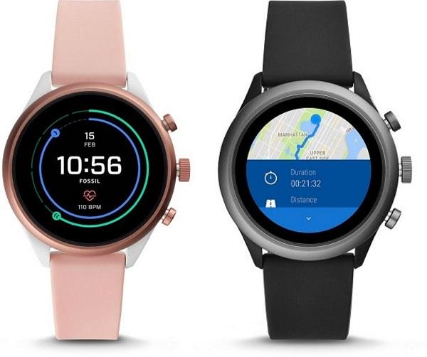 Zegarki Fossil Smartwatch Sport kolaż