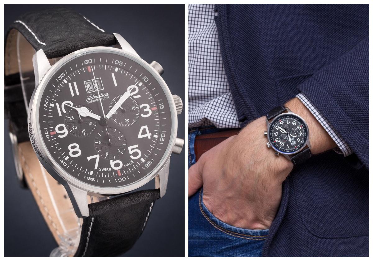 zegarek męski Adriatica Aviator Chrono A1076.5224CH