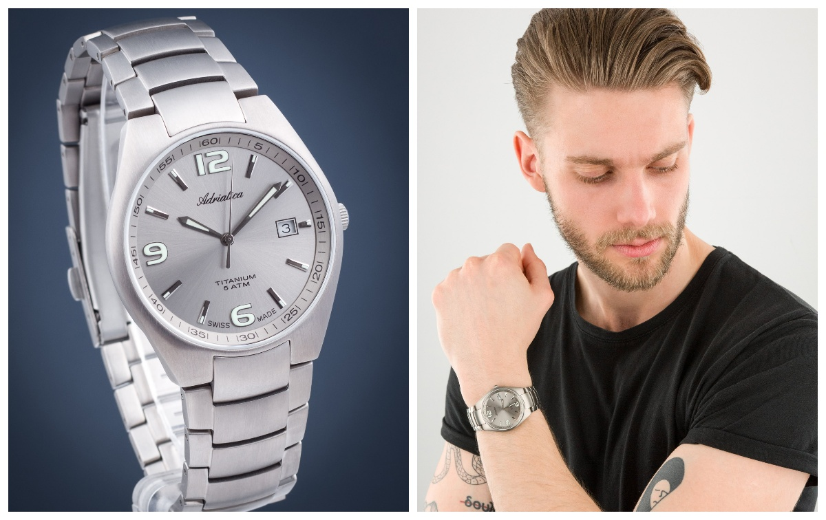 zegarek męski Adriatica Titanium A1069.4157Q