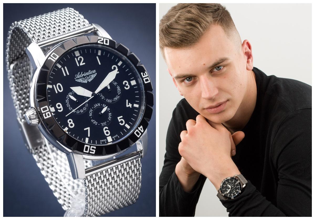zegarek męski Adriatica Classic A1108.Y124QF