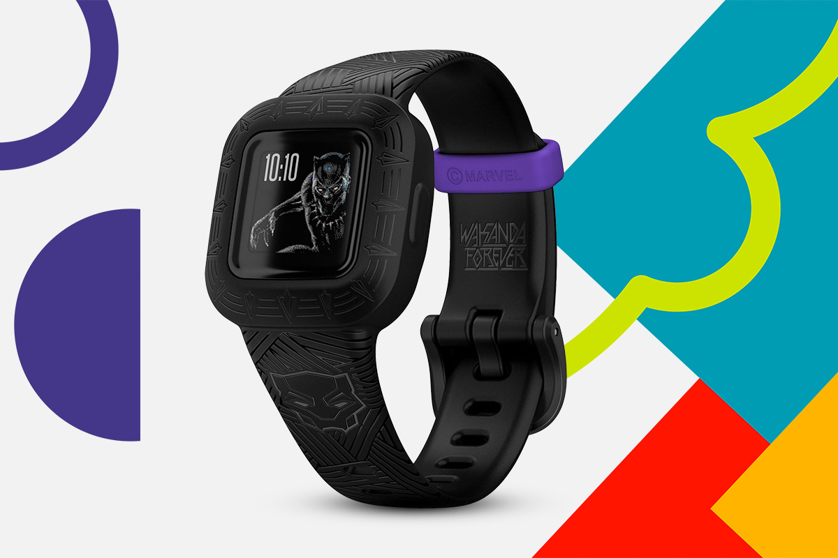 Smartwatch dla dzieci Garmin Vivofit Jr Marvel Black Panther