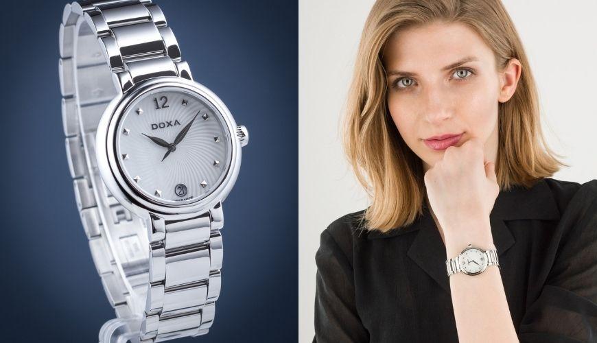 Szwajcarski zegarek damski Doxa