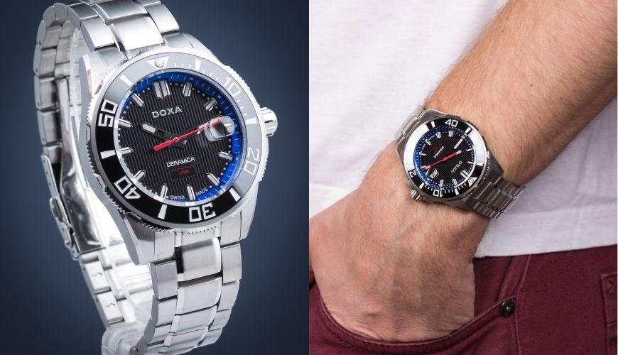 Szwajcarski zegarek męski Doxa